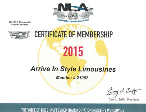 Ais Limo Service Nla Certificate